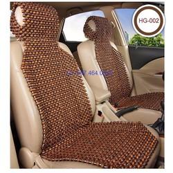 Đệm lót ghế xe oto hạt to- loại 1-có bọc đầu ghế- màu nâu