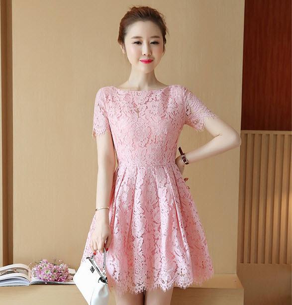 Váy ren xòe - đầm ren cao cấp hàng nhập - đầm đẹp 1