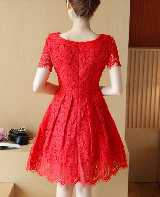 Váy ren xòe - đầm ren cao cấp hàng nhập - đầm đẹp 6