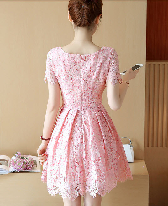 Váy ren xòe - đầm ren cao cấp hàng nhập - đầm đẹp 3