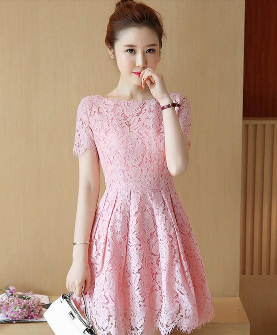 Váy ren xòe - đầm ren cao cấp hàng nhập - đầm đẹp 2