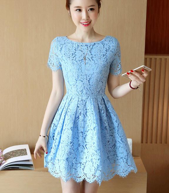 Váy ren xòe - đầm ren cao cấp hàng nhập - đầm đẹp 5