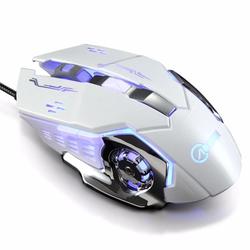 Chuột game thủ G502 cực bền thiết kế lạ có LED nhiều màu Trắng bạc