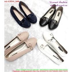 Giày mọi nữ có khóa ngang đáng yêu GM141