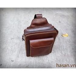 Túi da đeo chéo handmade đựng tablet  10 inch