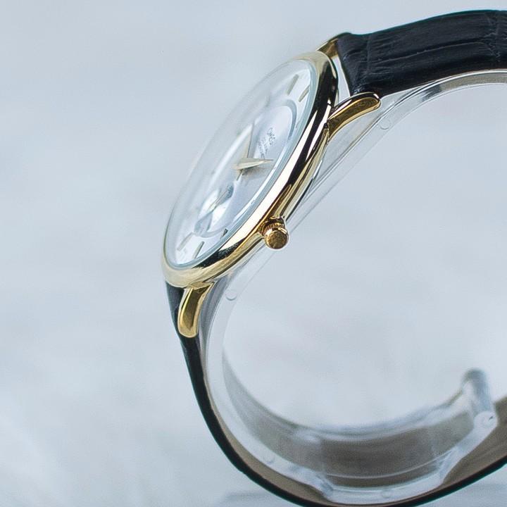 Đồng hồ dây da siêu mỏng chạy full kim OMEG 01 15
