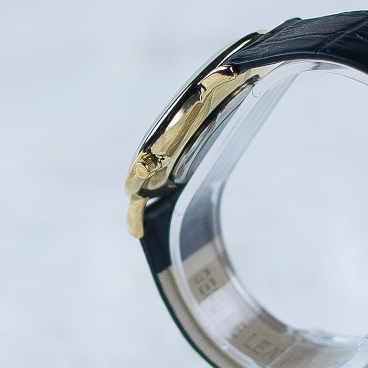 Đồng hồ dây da siêu mỏng chạy full kim OMEG 01 13