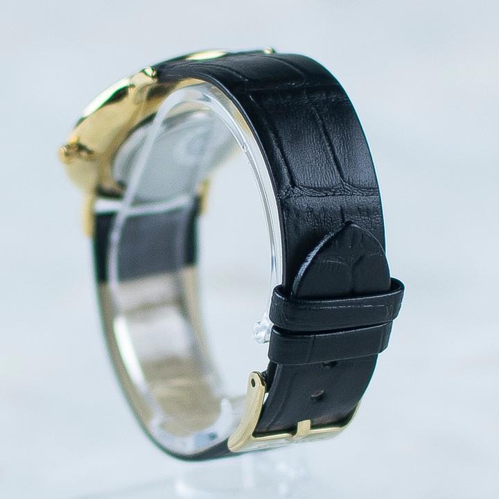 Đồng hồ dây da siêu mỏng chạy full kim OMEG 01 11