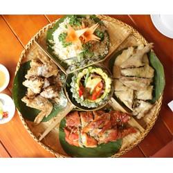 Mẹt gà thơm ngon hấp dẫn dành cho 04 người tại Nhà hàng Hương Đồng