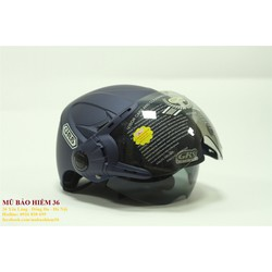 Mũ Bảo Hiểm Nửa Đầu GRS A966K 2 kính - nhiều màu