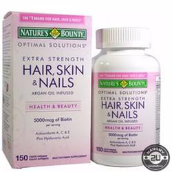Viên uống đẹp da tóc và móng Natures Bounty Hair Skin Nails 250 viên