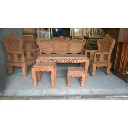 bộ bàn ghế salon gỗ gõ đỏ mẫu luy hoàng gia