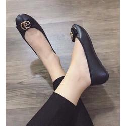 giày búp bê mũi tròn H M hai chữ G