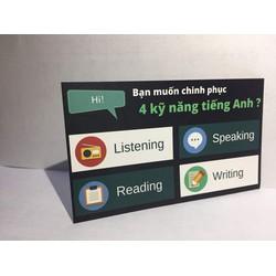 Thẻ học tiếng Anh giao tiếp trực tuyến và Luyện thi TOEIC 800+