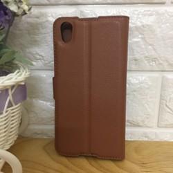 Alcatel IDOL 4-Bao da điện thoại PU flip cover có khe để thẻ