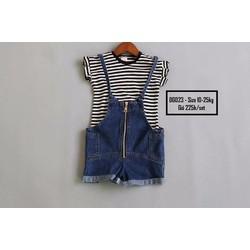 Yếm jeans phối áo thun cực xinh cho bé cao cấp giá rẻ