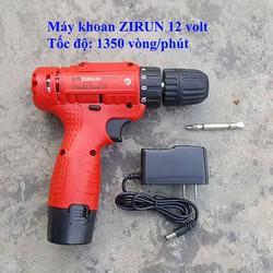 Máy khoan Zirun 12 volt 1 pin