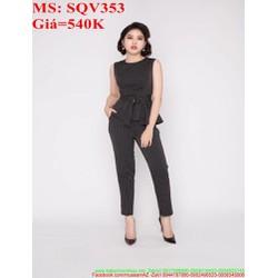 Sét áo kiểu tùng xòe và quần baggy kèm thắt lưng sành điệu SQV353