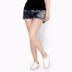 Quần Jean short nữ màu loang phong cách