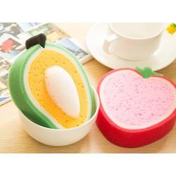 Combo 10 miếng rửa chén hình trái cây
