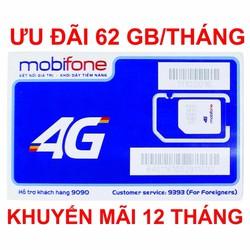 SIM 4G Mobifone 62GB Chỉ 50K