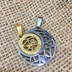 Mặt dây chuyền móc khóa cặp đôi trăng tròn