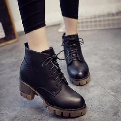 Boot nữ đế thô cột dây trẻ trung