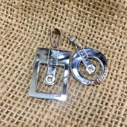 Mặt dây chuyền móc khóa cặp đôi nhiệt kế