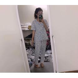bộ ngủ thái áo cộc quần dài