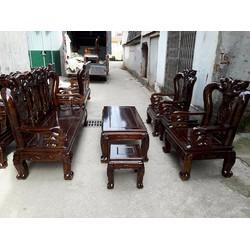 Bộ bàn ghế minh quốc đào - gỗ tràm - tay 10