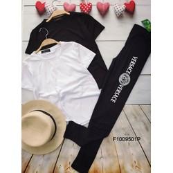 Set áo thun trơn quần legging hàng thiết kế - MS: S100957 Gs: 105k