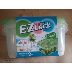 Bộ 2 hộp đựng thực phẩm Easy Lock xanh lá