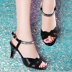 Giày cao gót nữ chữ H quai đính đá - LN1367