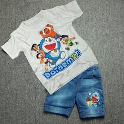 Đồ bộ áo thun quần jeans bé trai MM012k