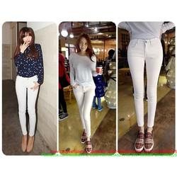Quần jean nữ lưng cao Bigsize form chuẩn tôn dáng