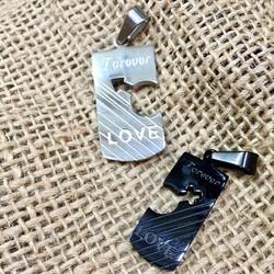 Mặt dây chuyền móc khóa cặp đôi love forever