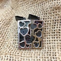 Mặt dây chuyền móc khóa cặp đôi trái tim