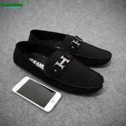 Giày lười da nỉ nam Hàn Quốc thời trang