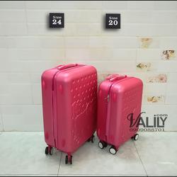 Vali kéo nhựa dẻo Hello Kitty - hồng sen - size 20