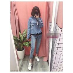 Áo khoác Jeans nón