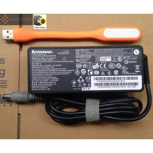 Sạc Laptop Lenovo Thinkpad Edge E40 E50 E220 20V 4.5A Tặng đèn LED USB