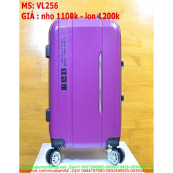 Vali kéo du lịch nhựa thiết kế đẹp và màu trơn VL256