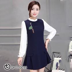 Váy thêu Công tay - Hàng cao cấp Quảng Châu