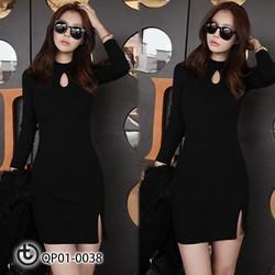 Váy body cổ giọt lệ - Hàng cao cấp Quảng Châu