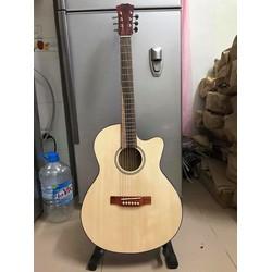 guitar Acoustic gỗ thông. có ty chỉnh cong cần