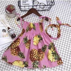 Đầm xinh họa tiết siêu dễ thương cho bé hàng cao cấp giá rẻ