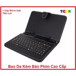 Bao da kèm bàn phím cổng Micro USB cho điện thoại máy tính bảng 7 inch