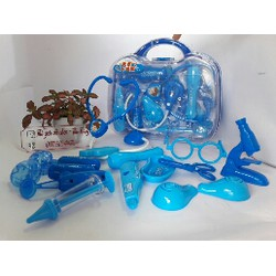 Bộ đồ chơi cặp bác sỹ với 15 dụng vụ có đèn và âm thanh