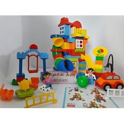 Bộ đồ chơi xếp hình khu vui chơi 100 chi tiết cỡ đại
