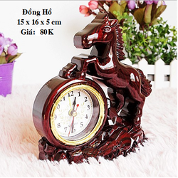 Đồng hồ nhựa hình Con Ngựa